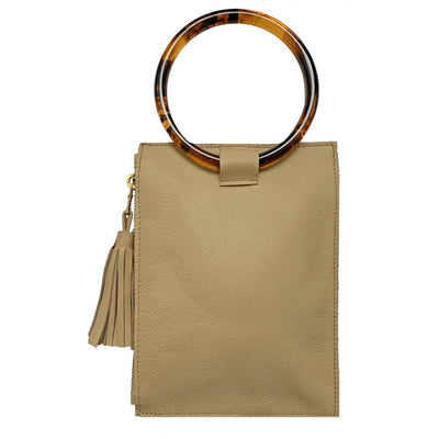 The Ring Wristlet-Handbags-LATTE + TORTOISE ACRYLIC RING-Kevin's Fine Outdoor Gear & Apparel