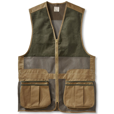 Filson Men's Lightweight Shooting Vest-HUNTING/OUTDOORS-DARK TAN-2X-LARGE-Kevin's Fine Outdoor Gear & Apparel