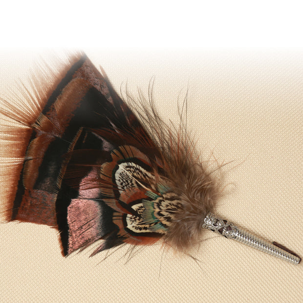 Traditional Feather Hat Pin