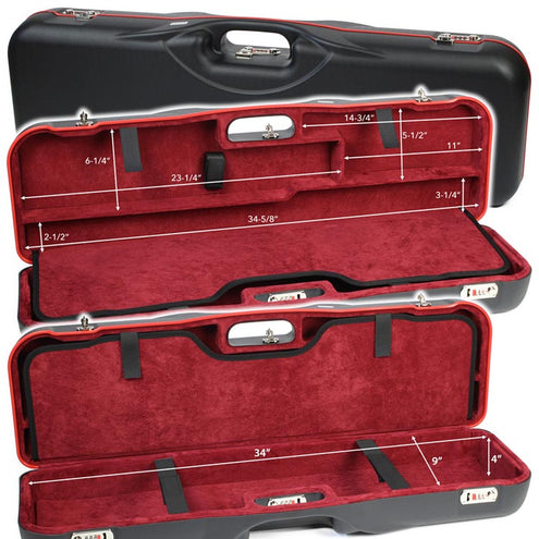 Negrini One Gun Rubber Trimmed Luggage Case