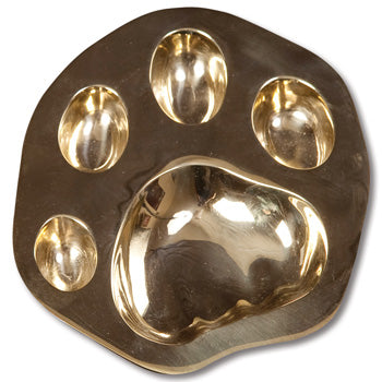 Brass Tiger Paw Ashtray