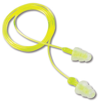 Tri-Flange Corded Reusable Earplugs