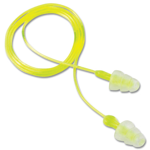 Tri-Flange Corded Reusable Earplug 100 pack
