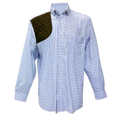 Kevin's Performance Blue Gingham Long Sleeve Right Hand Shooting Shirt-MENS CLOTHING-Kevin's Fine Outdoor Gear & Apparel