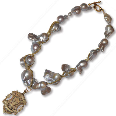 Wrapped Baroque Pearl Necklace