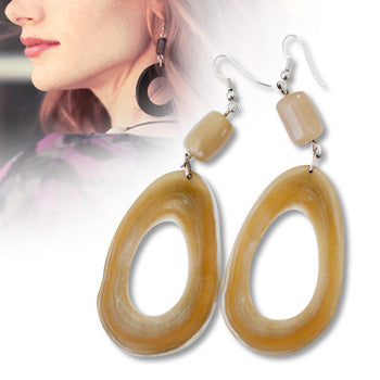 Christy Hoop & Bead Earrings