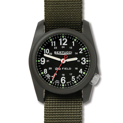 Bertucci Mens A-2R Dx3 Analog Field Watch - Olive
