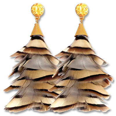 Brackish Sandy Partridge Feather Earrings-JEWELRY-SANDY-Kevin's Fine Outdoor Gear & Apparel