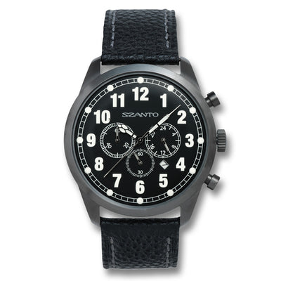 Szanto Men's 2000 Series Classic Vintage Inspired Watch