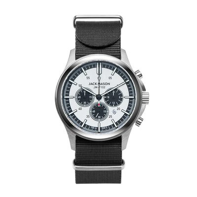 Jack Mason Field Chronograph Watch W/Black Nylon Strap