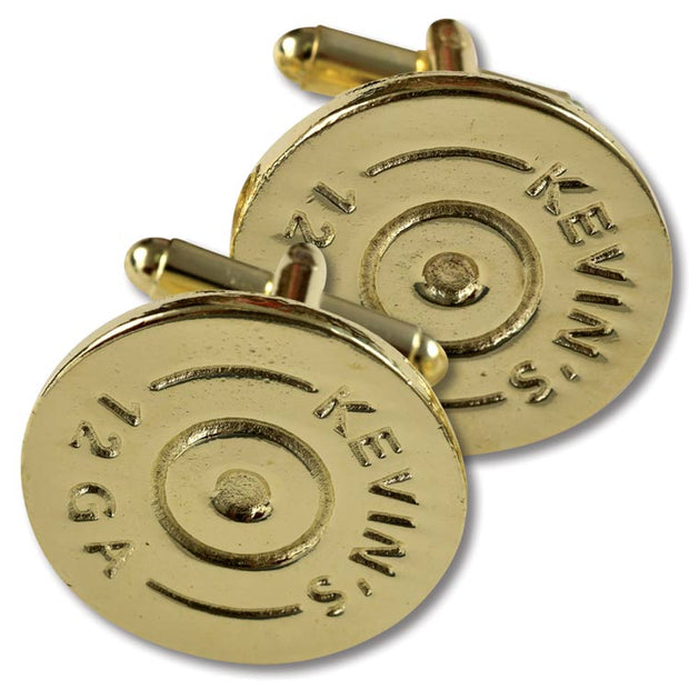 Brass Shotgun Shell Cufflinks