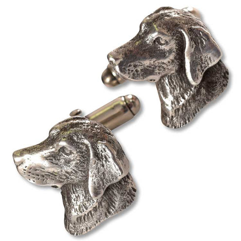 Sterling Lab Head Cufflinks-JEWELRY-Romeo Miracoli & Figlio-Kevin's Fine Outdoor Gear & Apparel
