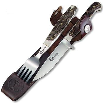 Boker Knife & Fork Set with Sheath