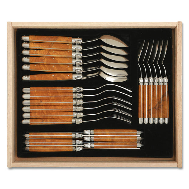 Laguiole 4 Piece Olive Wood Place Settings