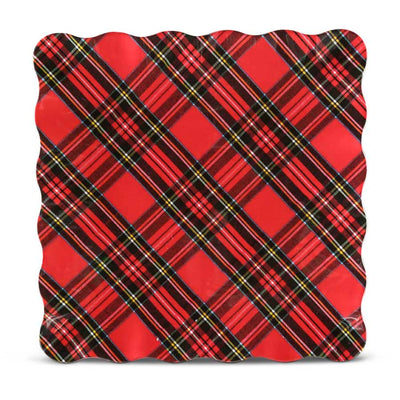 TARTAN PLAID CHRISTMAS PLATTER