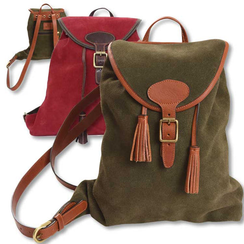 Kevin's Ladies Suede Backpack