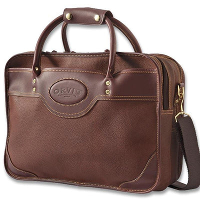 Orvis Bullhide Leather -  Extra Capacity Briefcase