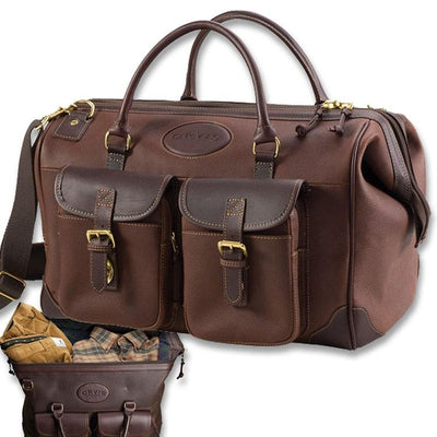 Orvis Bullhide Leather Weekend Travel Bag