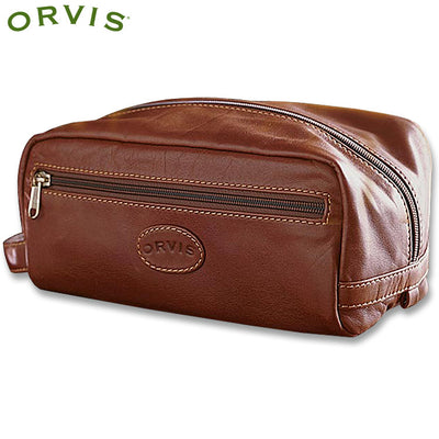 Orvis Leather Shaving Kit