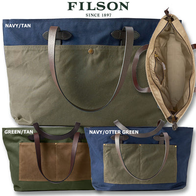 Filson Large Zip Tote Bag