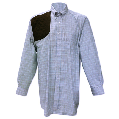 Kevin's Performance Blue/Royal Tattersall Long Sleeve Right Hand Shooting Shirt-MENS CLOTHING-Kevin's Fine Outdoor Gear & Apparel