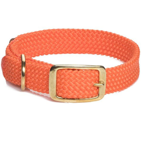 "Mendota Double Braid Collar-PET SUPPLY-Mendota Products Inc.-ORANGE-18""-Kevin's Fine Outdoor Gear & Apparel"