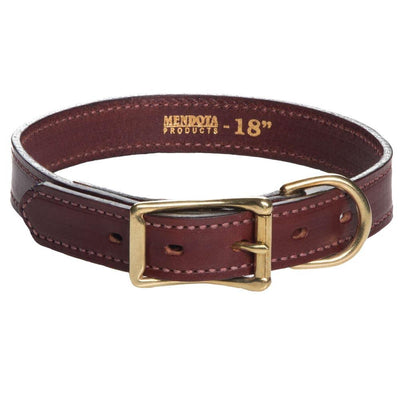 Mendota Standard Leather Collar - Wide