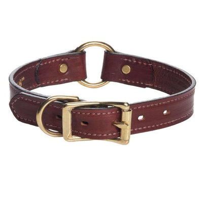 Mendota Leather Hunt Collar - Wide