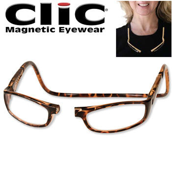 CliC Eyewear Euro Readers for Ladies - Tortoise