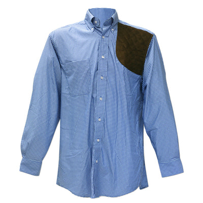 Kevin's Performance Aqua/Blue Gingham Left Hand Shooting Shirt-MENS CLOTHING-Kevin's Fine Outdoor Gear & Apparel