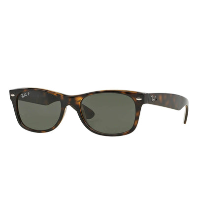 Ray Ban New Wayfarer Classic Sunglasses-SUNGLASSES-Tortoise-Polarized Green-Kevin's Fine Outdoor Gear & Apparel