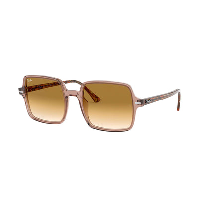 Ray Ban Square II Sunglasses-SUNGLASSES-Transparent Brown-Light Brown Gradient-Kevin's Fine Outdoor Gear & Apparel