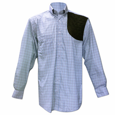 Kevin's Performance Blue/ Royal Tattersall Left Hand Shooting Shirt-MENS CLOTHING-Kevin's Fine Outdoor Gear & Apparel