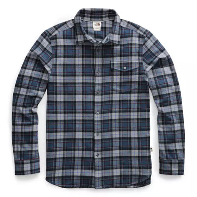 The North Face Men's Long Sleeve Arroyo Flannel Shirt-MENS CLOTHING-THE NORTH FACE-Blue Wing Teal Teal Ravine Plaid-2XL-Kevin's Fine Outdoor Gear & Apparel