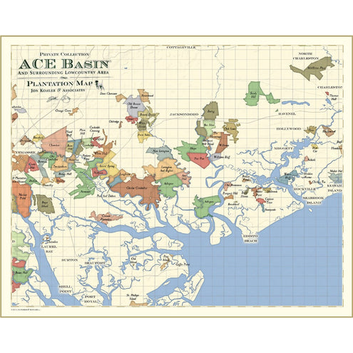 ACE Basin Area (South Carolina) Plantation Map