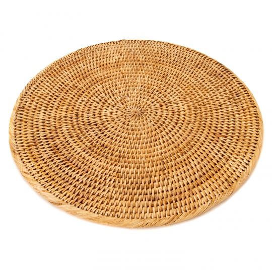 "Wicker Large Round Placement 16""-HOME/GIFTWARE-Kevin's Fine Outdoor Gear & Apparel"