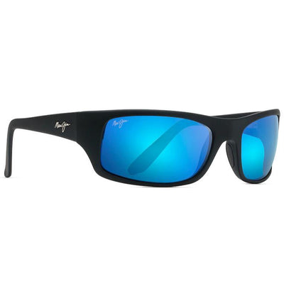"Maui Jim ""Peahi"" Polarized Sunglasses-SUNGLASSES-Black Matte Rubber-Blue Hawaii-Kevin's Fine Outdoor Gear & Apparel"