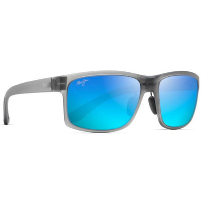 "Maui Jim ""Pokowai Arch"" Polarized Sunglasses-SUNGLASSES-Matte Grey-Blue Hawaii-Kevin's Fine Outdoor Gear & Apparel"