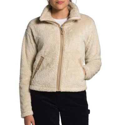 The North Face Women's Furry Fleece 2.0 Jacket-WOMENS CLOTHING-Bleached Sand/Hawthorne Khaki-S-Kevin's Fine Outdoor Gear & Apparel