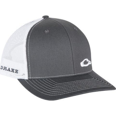 Drake Waterfowl Enid Mesh Back Cap-Men's Accessories-Charcoal | White-Kevin's Fine Outdoor Gear & Apparel