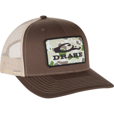Drake Waterfowl Old School Patch Mesh Back Cap-Men's Accessories-Kevin's Fine Outdoor Gear & Apparel