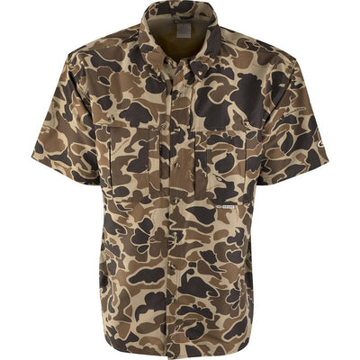 Drake Waterfowl Wingshooter's Shirt-MENS CLOTHING-Old School Camo-M-Kevin's Fine Outdoor Gear & Apparel