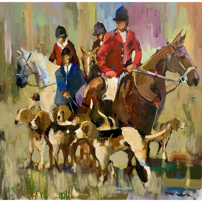 """Tally Ho"" Oil on Canvas by Dirk Walker-Consignment-Kevin's Fine Outdoor Gear & Apparel"