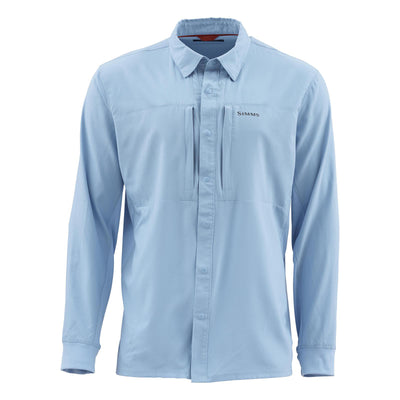Simms Men's Intruder Bicomp Long Sleeve Shirt-MENS CLOTHING-FADED DENIM-S-Kevin's Fine Outdoor Gear & Apparel