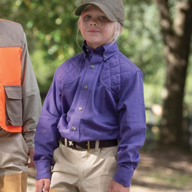 Kevin's Children's 100% Cotton Shooting Shirt-CHILDRENS CLOTHING-PURPLE-S-Kevin's Fine Outdoor Gear & Apparel