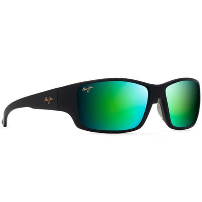 "Maui Jim ""Local Kine"" Polarized Sunglasses-SUNGLASSES-Black w/Green and Grey-Green Mirror-Kevin's Fine Outdoor Gear & Apparel"