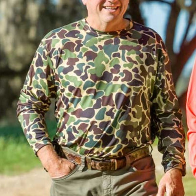 Kevin's Camo Long Sleeve Performance T-Shirt-T-Shirts-Kevin's Fine Outdoor Gear & Apparel
