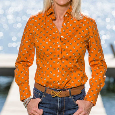 Kevin's Finest Ladies Fox Blouse-WOMENS CLOTHING-Kevin's Fine Outdoor Gear & Apparel
