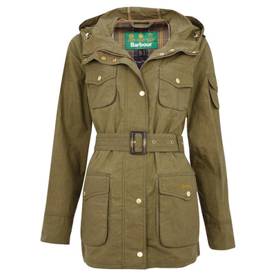 Barbour Women's Collins Showerproof Jacket-WOMENS CLOTHING-Olive-UK8/US4-Kevin's Fine Outdoor Gear & Apparel