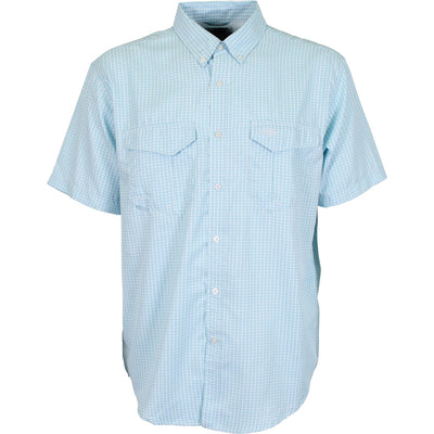 Aftco Sirius Button Down Shirt-MENS CLOTHING-Horizon Blue-S-Kevin's Fine Outdoor Gear & Apparel